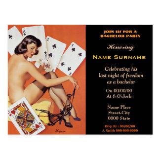 Boys Poker Night,boys night out,STRIPCLUB,BACHELOR Postcard