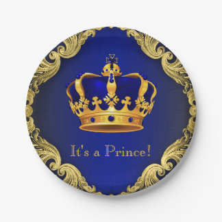 Boys Prince Baby Shower Paper Plates