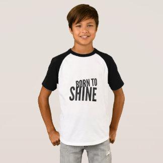 Boys Raglan 'Born to Shine' T-Shirt