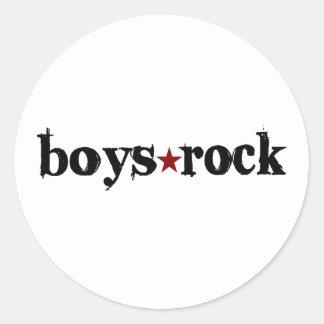 Boys Rock Round Sticker