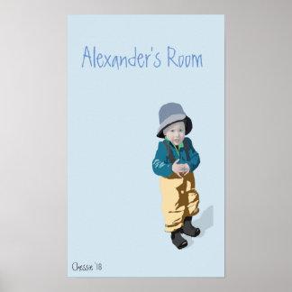 Boys Room Blue Poster