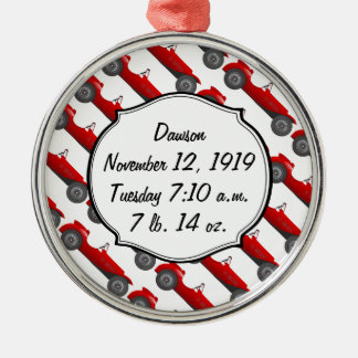 Boys Room Classic Car Gifts Sweet red Retro Car Metal Ornament