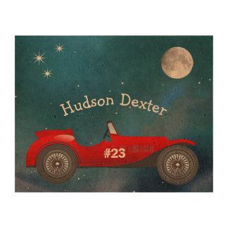 Boys Room Classic Car Gifts Sweet red Retro Car Queork Photo Prints