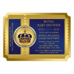 Boys Royal Baby Shower 13 Cm X 18 Cm Invitation Card