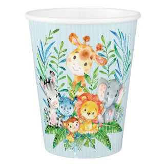 Boys Safari Jungle Baby Shower Paper Cup