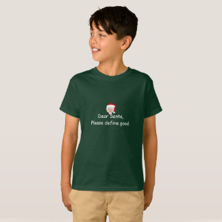 Boys' Santa T-Shirt with Funny Note to Santa