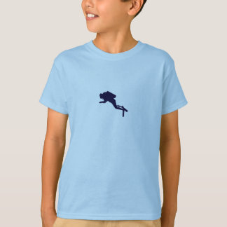 Boys Scuba Diver Design T-Shirt