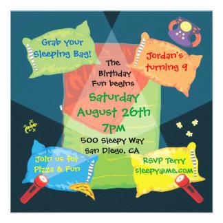 Boy's Sleepover Birthday Party Invitation