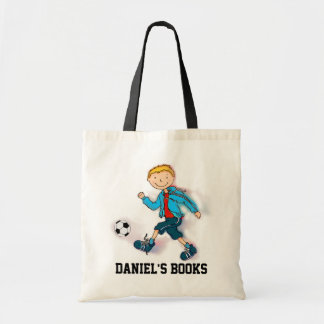 Boys Soccer library book bag