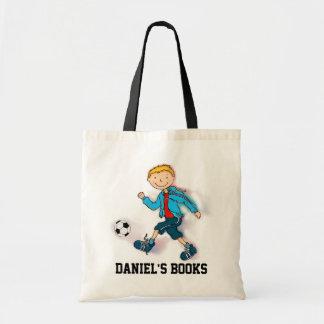 Boys Soccer library book bag