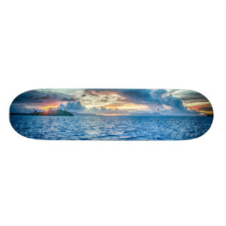 Boy's Sunset Blue Skateboard