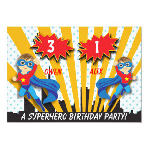 superhero birthday invitations zazzle com au