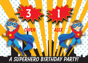 superhero birthday invitations zazzle com au