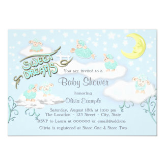 Boys Sweet Dreams Baby Shower Card
