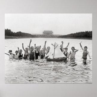 Boys Swimming, 1926 Poster