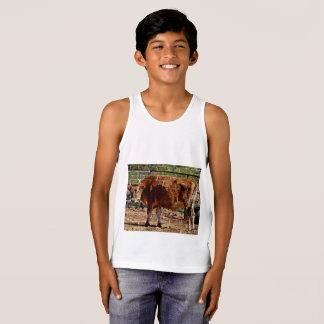 "Boy's Tank Top ""Cow In Bricks"""