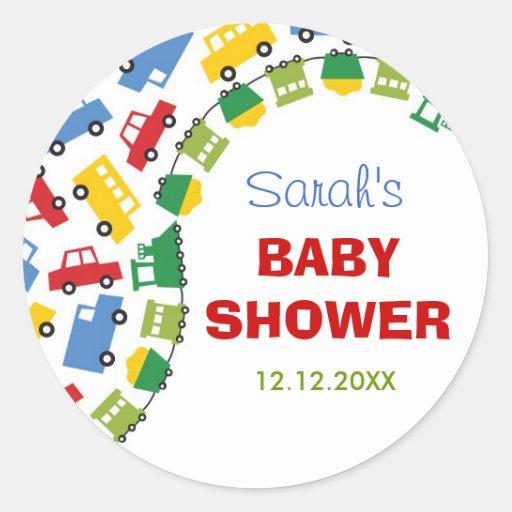 Boy's Toys Baby Shower Gift Favor Label / Sticker