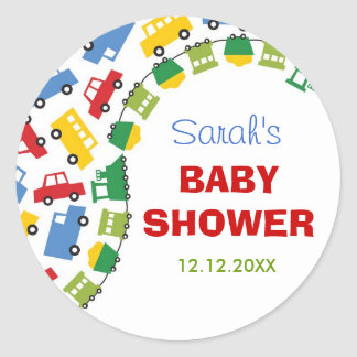 Boy's Toys Baby Shower Gift Favour Label / Sticker