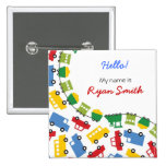 Boys' Toys Party Name Tag / Favours / Gift Button