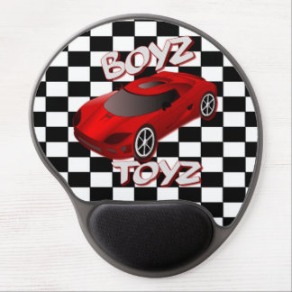 Boys Toys Red Sports Car Gel Mouse Pad