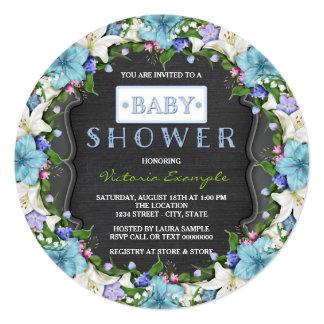Boys Vintage Chalk Baby Shower Card