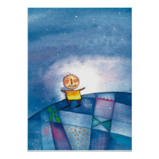 Boys Wall Hanging Poster