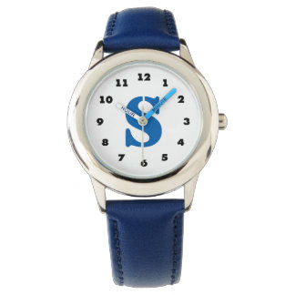 Boys watch | personalized letter S monogram