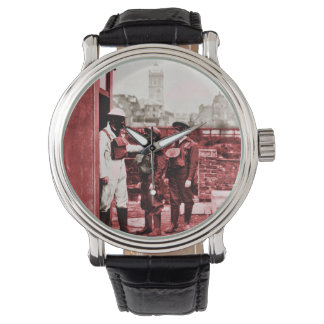 Boys Wearing Gas Masks Watches