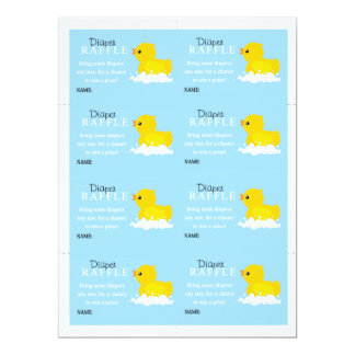 Boys Yellow Duck Diaper Raffle Card
