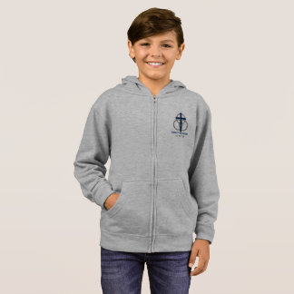 Boy's Zip-up: Traditional Logo Hoodie