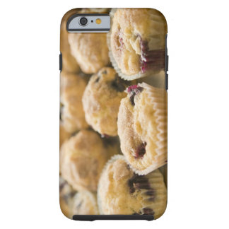 Boysenberry muffins on a platter iPhone 6 case