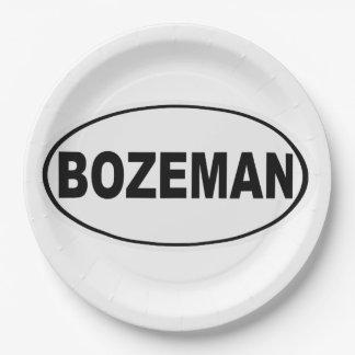 Bozeman Montana 9 Inch Paper Plate