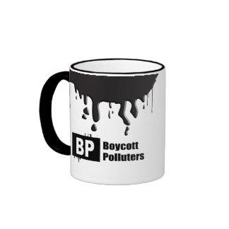 BP = BOYCOTT POLLUTERS RINGER MUG