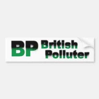 BP: British Polluter Bumper Sticker