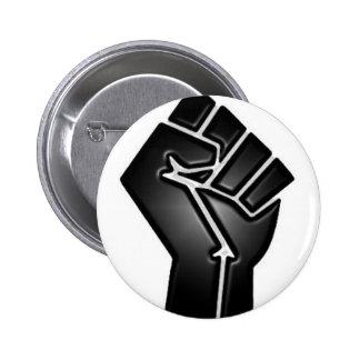 bp fist 6 cm round badge