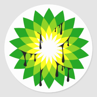 BP Oil Leak Classic Round Sticker