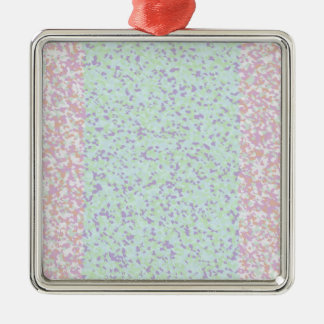 BPO Painting Silver-Colored Square Decoration
