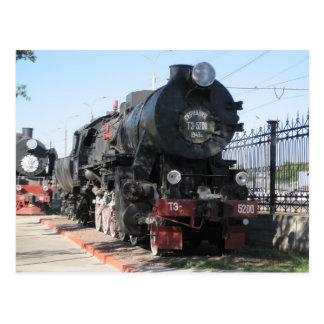 BR 52 war locomotive тэ-5200паровоз Postcard