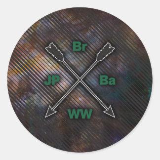 Br Ba JP WW Round Stickers
