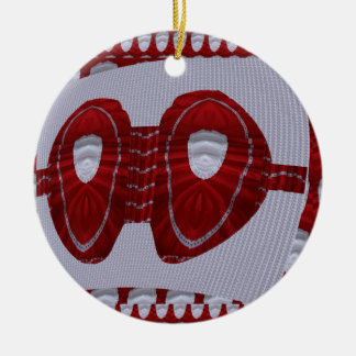 Bra Couture Fashion Red Silk Graphic FUN Wedding Christmas Ornaments