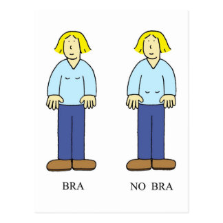 'Bra No Bra' Card ageing humour for women.'