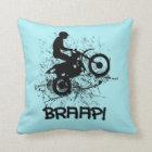 Braap Motocross Dirt Bikers Cushion
