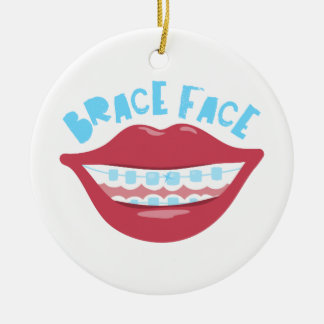 Brace Face Ceramic Ornament