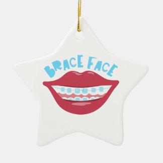 Brace Face Ceramic Star Decoration