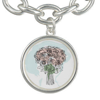 Bracelet with branch of roses