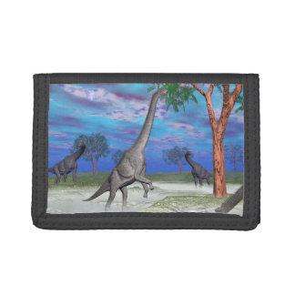Brachiosaurus dinosaur eating - 3D render Trifold Wallet
