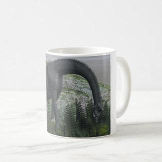 Brachiosaurus dinosaur eating fern - 3D render Coffee Mug