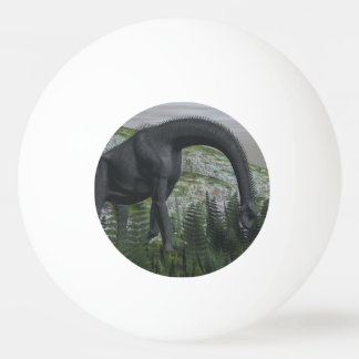 Brachiosaurus dinosaur eating fern - 3D render Ping Pong Ball
