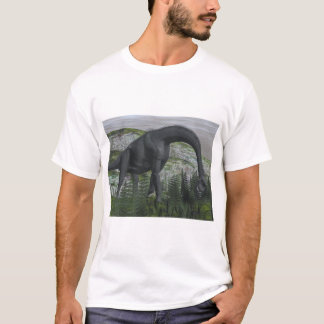 Brachiosaurus dinosaur eating fern - 3D render T-Shirt