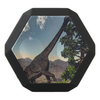 Brachiosaurus dinosaur eating wollomia pine black bluetooth speaker